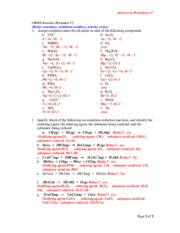 Oxidation Number Study Resources