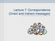 BCOM Session 7 Correspondence Direct & Indirect messages