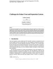 Challenges for Robust Trust and Reputation Systems