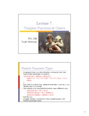 Template Functions & Classes