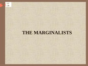 THE MARGINALISTS