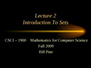 Lecture 2 - Introduction to Sets