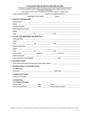 NFPA 72 Inspection and Test Form - SYSTEM RECORD OF INSPECTION AND ...