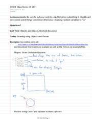 10-08  Class Notes CS 107