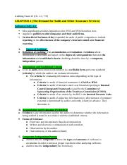 Auditing Exam 1 (Notes)