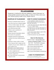 Examples of plagiarism . How to avoid plagiarism . How to cite sources . Links to powerpoints PPTs.p