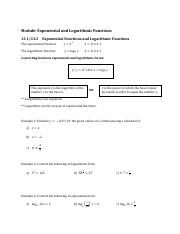 7 - Exponential and Logarithmic Functions Notes.pdf