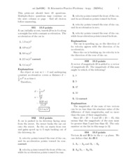 B. Kinematics Practice Problems-solutions