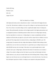 essay on college with guidelines for formaing papers