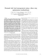 Demand side load management using a three step.pdf