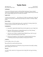 Taylor Resume 1