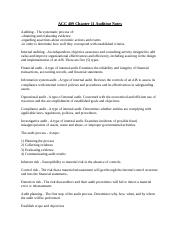 ACC 409 Chapter 11 Auditing Notes.docx