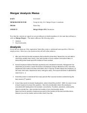 Assignment_Merger Analysis and Queries OS21.docx