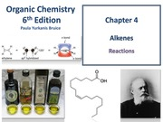 Chapter 4 - Alkenes - Addition Reactions