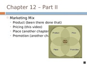 Chapter 12 - Pricing