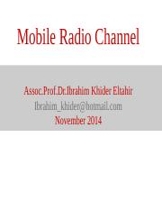 Lecture2 Mobile Radio Channel