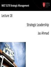 MGT3170 Lecture18-Strategic Leadership-2015-print