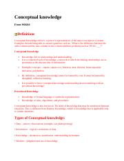 Conceptual knowledge.doc