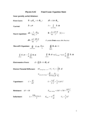 FinalExam_2008Spring_EquationSheet