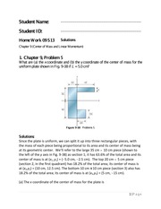 Physics 1 Chapter 9 Homework Solutions