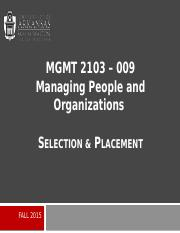 MGMT 2103_Selection & Placement_Presentation.pptx