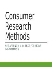 Consumer Research Methods web