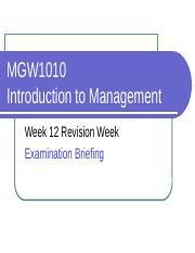 MGW 1010_Week 12 Revision and Exam Briefing %28Blackboard%29_Updated on 14 May 20120