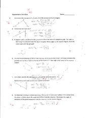 Trigonometry quiz pdf
