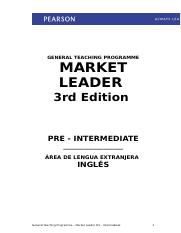 New Edition Market Leader Pre-Intermediate.doc