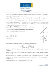 MTH140 - Lab 1 - Solutions