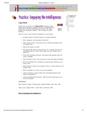 Multiple Intelligences -- math