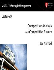 MGT3170 Lecture09-Competitor analysis-2015-print