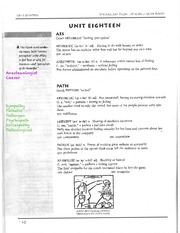English 10 Vocab Vocab from Latin and Greek Roots - Lesson 18 Worksheet
