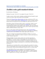 Call for gold standard 7.11