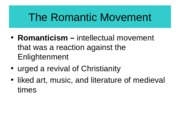 Chapter 19-The Romantic Movement