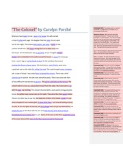 the colonel carolyn forche analysis