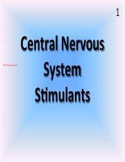 Central Nervous System Stimulants SUmmer 2015.pdf