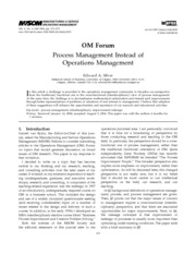 Mba notes on production and operations management
