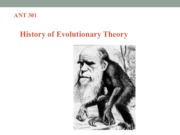 Lecture 9 (History of Evolutionary Theory)