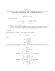 Midterm 2 2011 Solutions