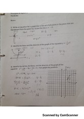 parabolas complex fractions notes