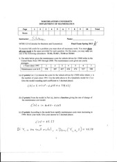 Calculus Final Exam Spring 2013 Answers