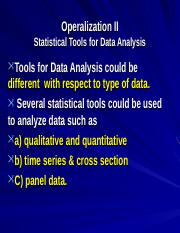 9930_4301Operationalisation II -Data Analysis.ppt