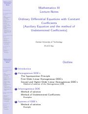 6 Odinary Differential Equations - Notes.pdf