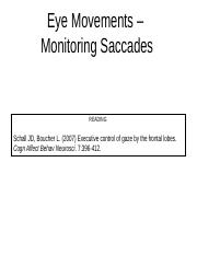 Saccade performance monitoring (3)