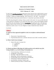 Study Guide for GEO 101_Spring 2018_for students.docx