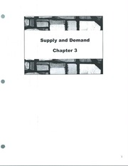 Class Note  Supply and Demand