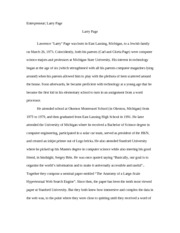 Larry Page Research Paper