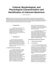2 MCB 101 PAPER for unknown #4  docx - Cultural