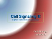 Lecture 13 Cell signaling IIhisupdated